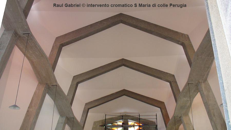 arte sacra contemporanea intervento cromatico S Maria di colle Perugia Raul Gabriel ©