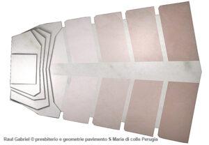 arte sacra contemporanea presbiterio e geometrie pavimento S Maria di colle Perugia Raul Gabriel ©