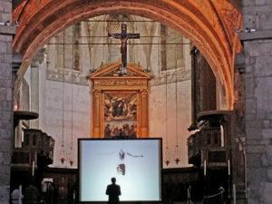 arte sacra contemporanea Xfiction installazione Duomo vecchio Brescia Raul Gabriel ©