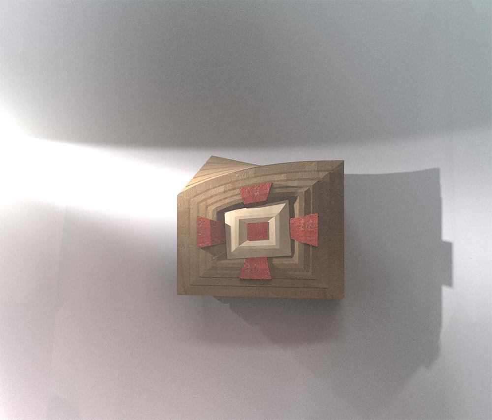 arte sacra contemporanea render Tabernacolo contemporaneo Raul Gabriel © chiesa di Olmo