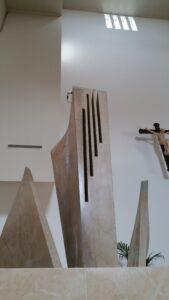 Ambone contemporaneo Chiesa di Olmo progetto Raul Gabriel © prospettiva 1